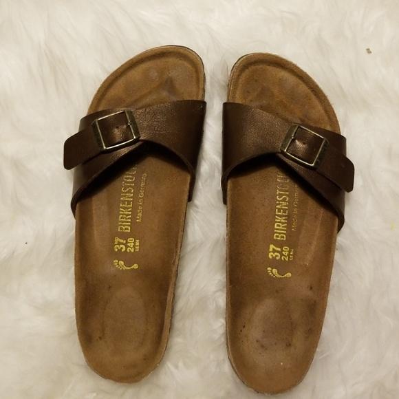 new style a823f bb641 Birkenstock Madrid Sandals Metallic Brown Size 37